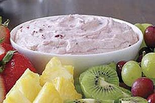 Sweet fruit dip, perfect for any party!  I love it with grapes!