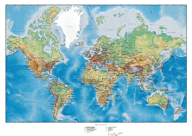 93 best cartes du monde images on pinterest world maps world world map detailed colorsplash wall mural photo wallpaper photowall sciox Gallery
