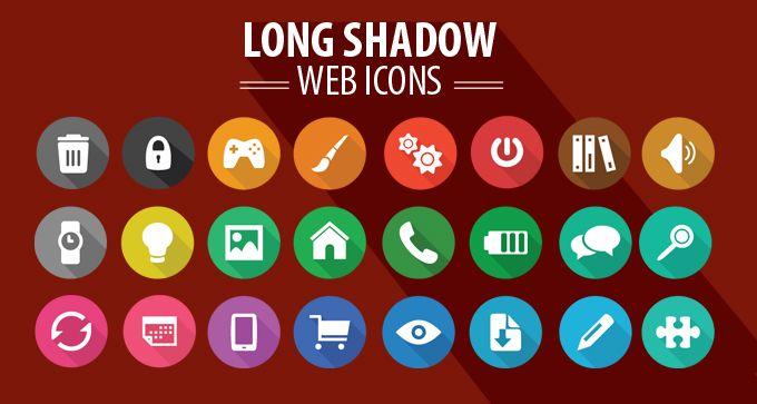Long Shadow Web Icons - Designers Revolution: Premium Vector stock resources & design elements