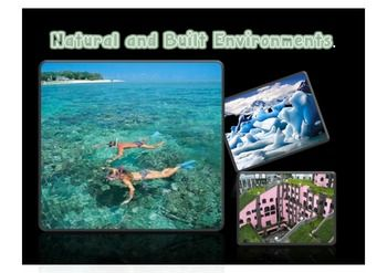 This resource includes 30 slides of an assortment of natural and built (man-made) environments. 2 Definition slides- one each for natural and built environments, a slide with focus questions to spark discussions about the features of the two environments.