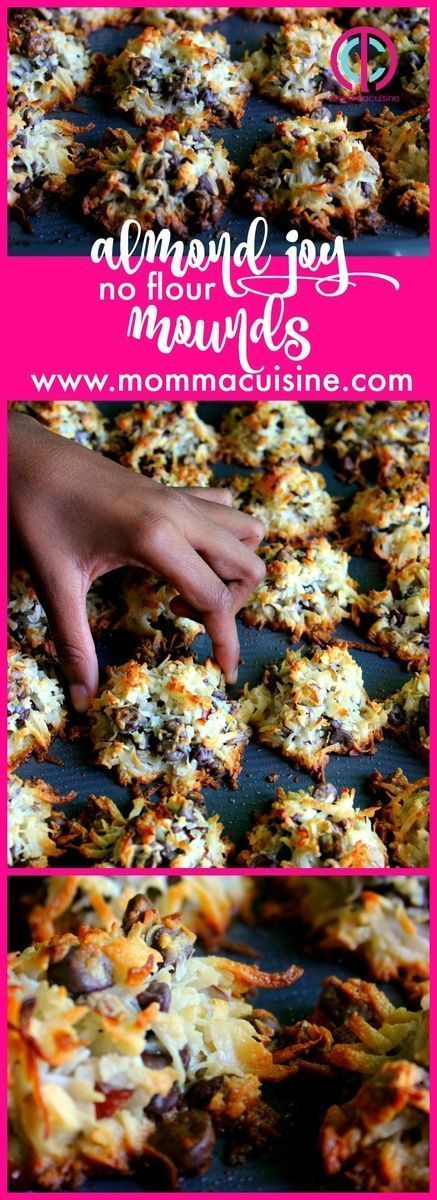 No Flour Almond Joy Mounds by @mommacuisine. #coconut #desserts