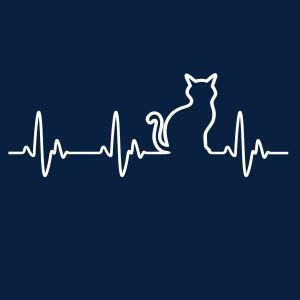 Cat Heartbeat - T-Shirts and Hoodies | Fabrily | Kitties | Pinterest