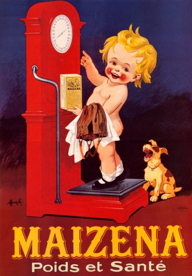 Maizena Scales vintage French ad.... Hehe thought this was cute.