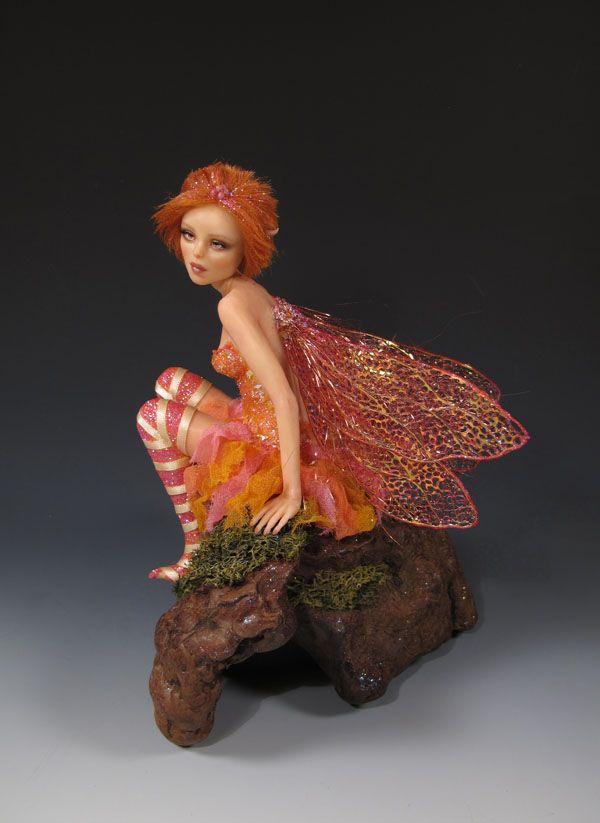 "OOAK ""Spring Faerie"" by Sara Rojo. She's listed on ebay right now: http://www.ebay.com/itm/OOAK-Spring-Faerie-polymer-clay-fantasy-doll-fairy-IADR-by-Sara-Rojo-/162061093806?hash=item25bb980bae:g:5zQAAOSwn9lXK6Sj ...... Facebook art page: https://www.facebook.com/SaraRojoFantasyArt/?fref=ts"