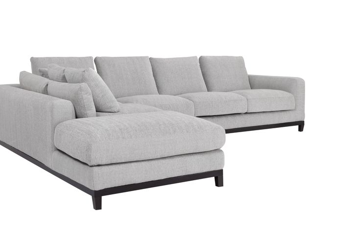 Kellan Sectional Sofa with Left Chaise, Light Gray