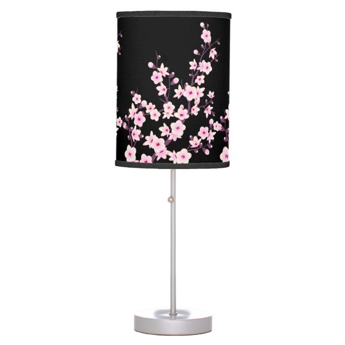 Floral Cherry Blossoms Table Lamp Zazzle Com Cherry Blossom Decor Cherry Blossom Nursery Cherry Blossom Bedroom
