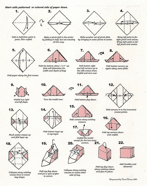 Origami Paper Purse Instructions