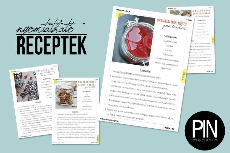 PIN tavasz - Nyomtatható receptek ~ PIN MAGAZIN
