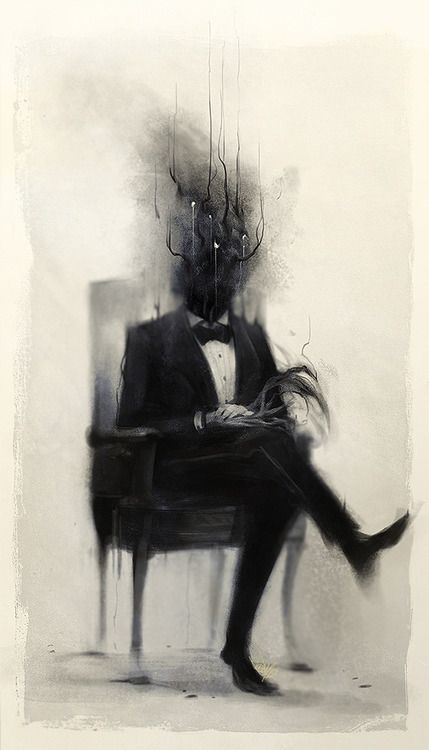 Image result for dark man alone paintings