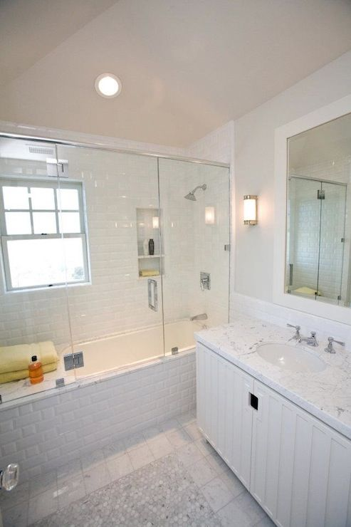 subway tile shower bathroom andrea may hunter gatherer
