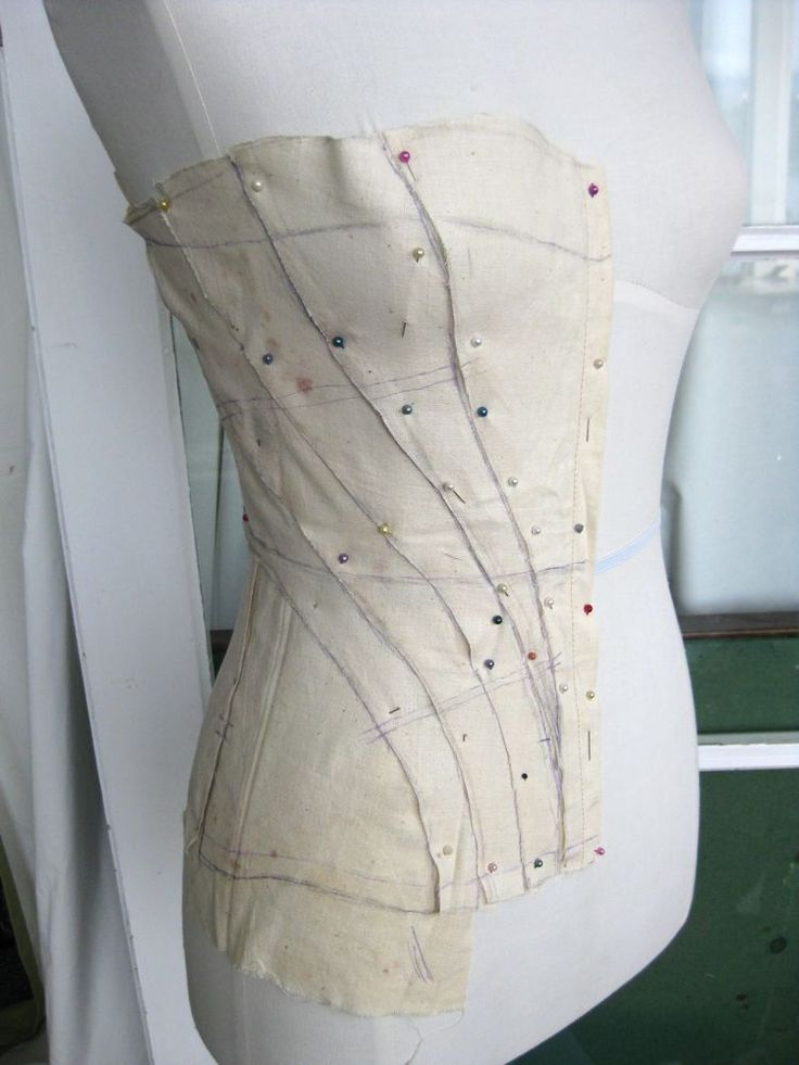 A corset for Emily: draping the pattern – The Dreamstress