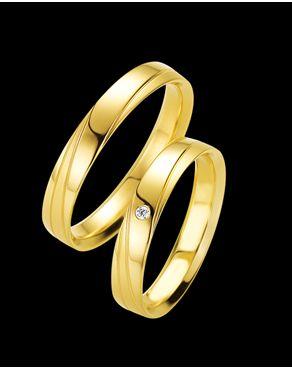 Βέρες Breuning σε χρυσό Κ8-Κ14-Κ18 με Διαμάντι