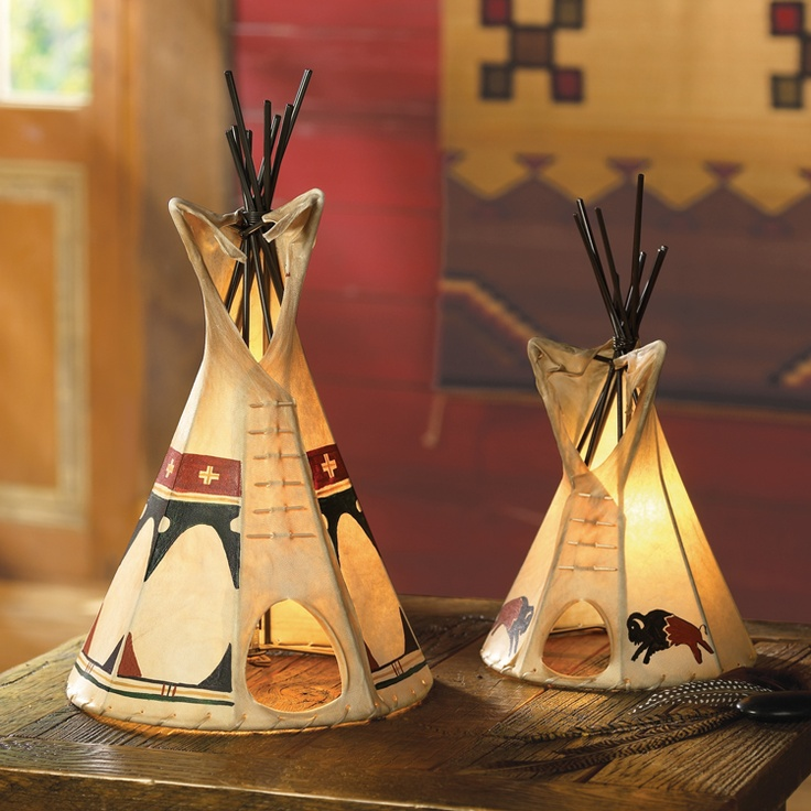 Native American Home Decor: Teepee Lamp. Crowsnesttrading.com