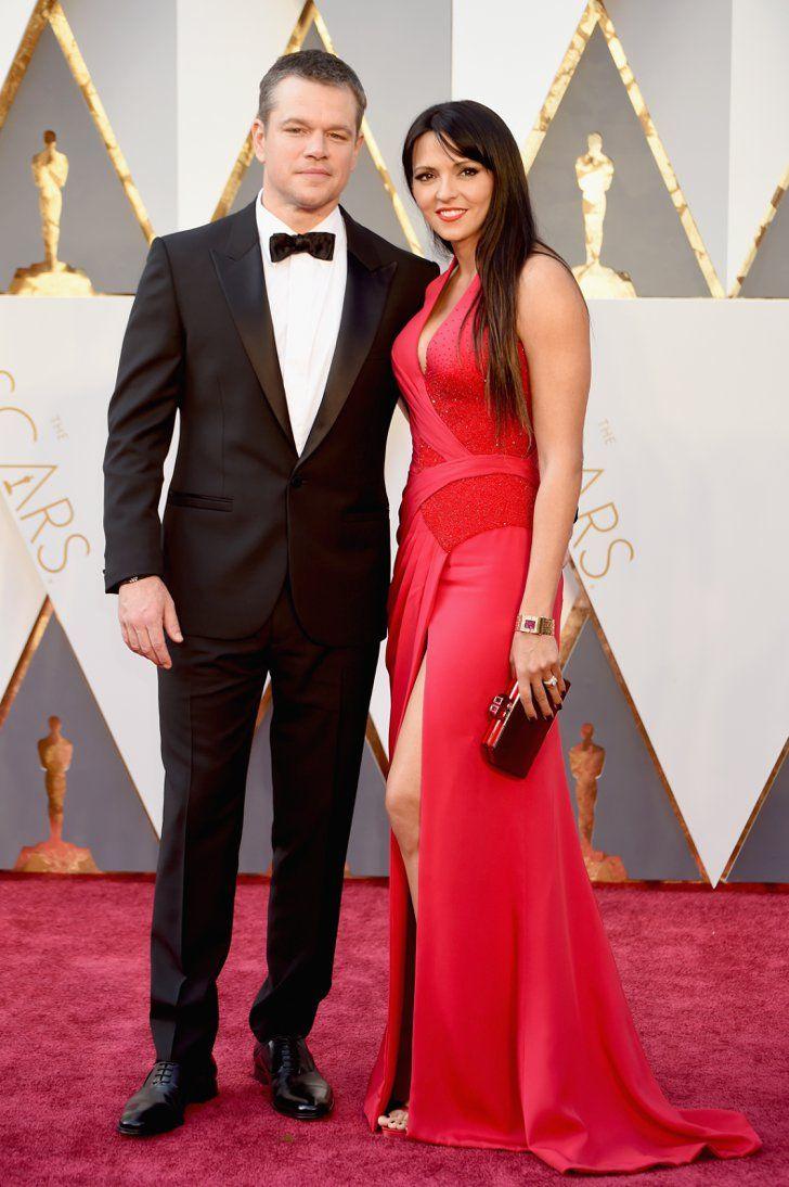 Pin for Later: Ces Couples de Célébrités Ont Mis le Feu au Tapis Rouge des Oscars Matt Damon et Luciana Damon