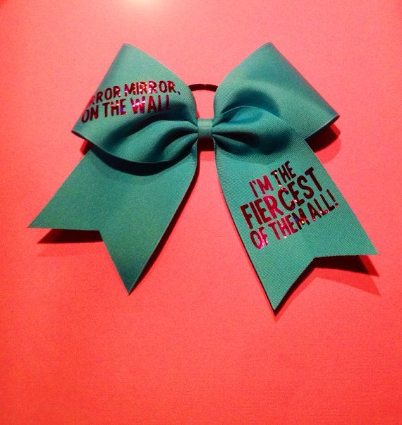 Fiercest Of Them All Cheer Bow | Cheer bows, Mirror mirror ...