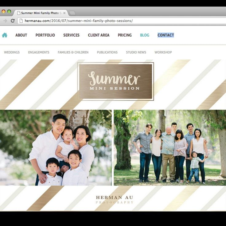 """We are spotted someone using our """"Summer Mini Session Template"""". Very glad to know it!. Please give your warmest support to Herman Au Photography"""