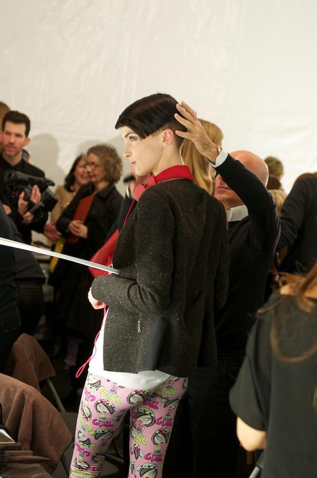 anna sui backstage: love the leggings