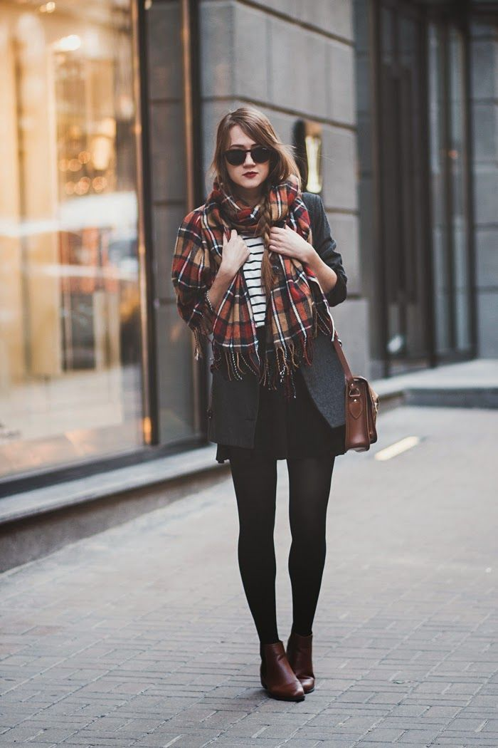 mixed prints, check scarf, fashion, chelsea boots, sunglasses, autumn style, satchel, stripes, outfit