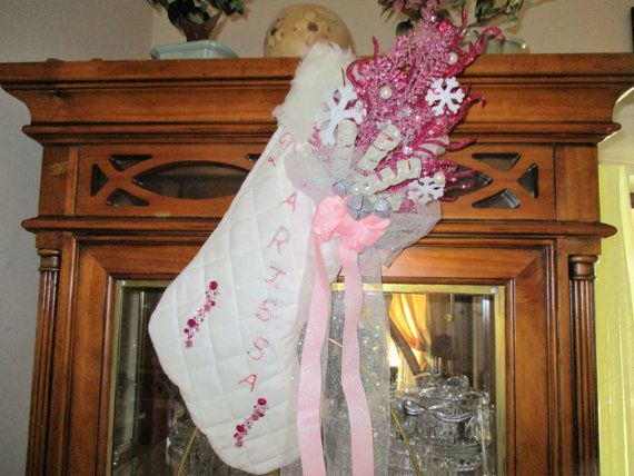 Hey, I found this really awesome Etsy listing at https://www.etsy.com/listing/476465252/pink-personalized-christmas-stocking
