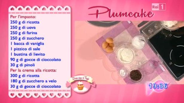 Dolci dopo il tiggì: Il plumcake di Anna Moroni a Dolci Dopo il tiggì dell'11 marzo 2015