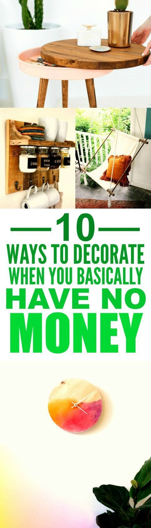 218 best Home Decor on a Budget images on Pinterest | Home decor ...