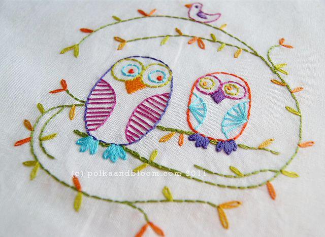 Best owl embroidery ideas on pinterest simple