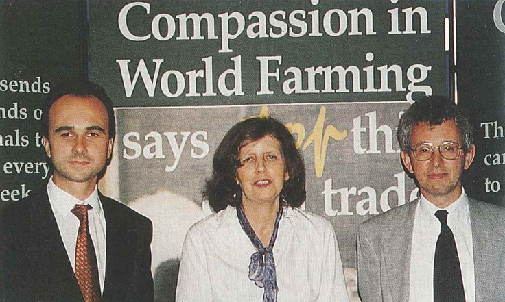 1995 at a conference at the House of Commons. Philip, Joyce and Peter who are still with us at Compassion today.