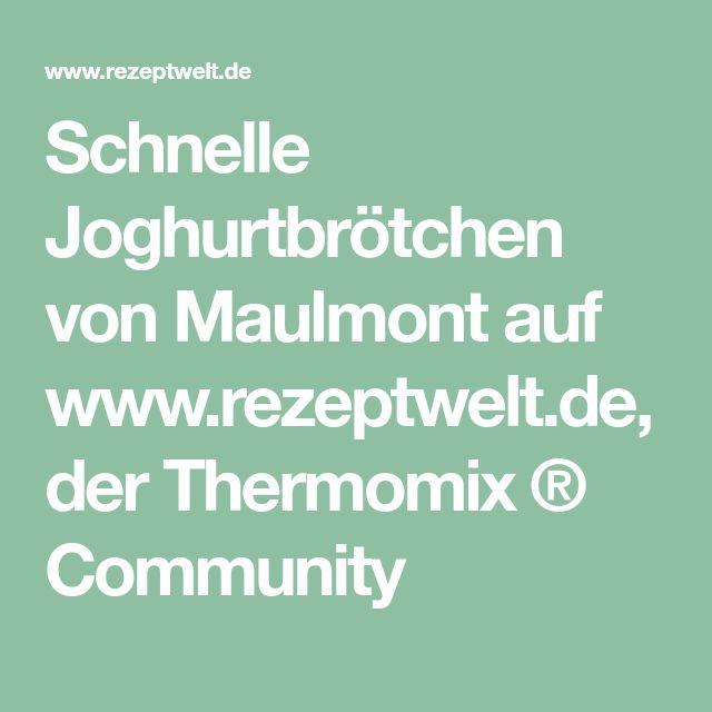 Schnelle Joghurtbrötchen von Maulmont auf www.rezeptwelt.de, der Thermomix ® Community