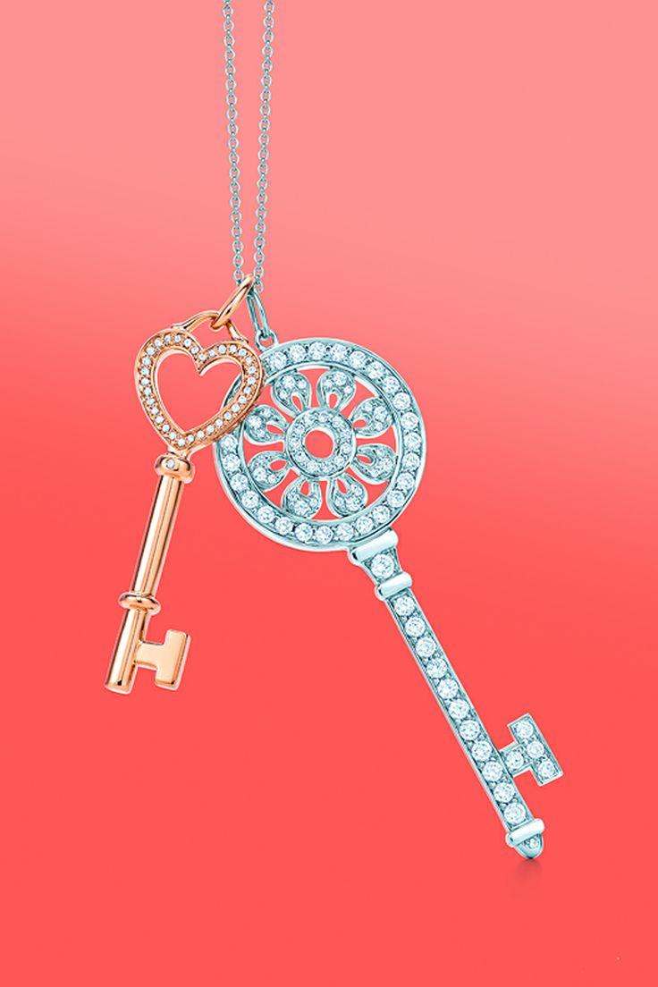 Two Keys To Happiness Tiffany Keys Heart Key Charm In 18k