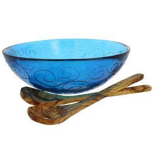 3-Piece Mediterranean Serving Bowl Set