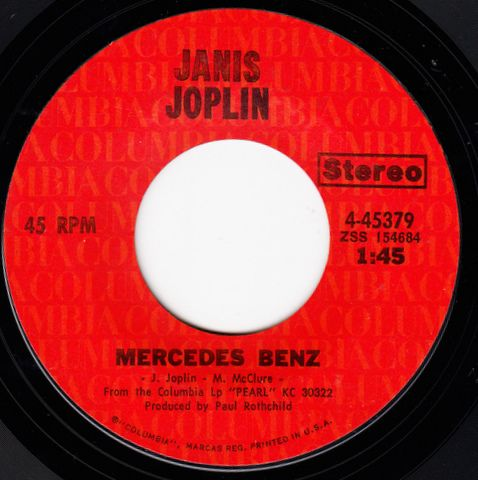 release single janis joplin baby mercedes benz