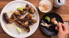 Grilled Jalapeño-Honey Chicken Wings