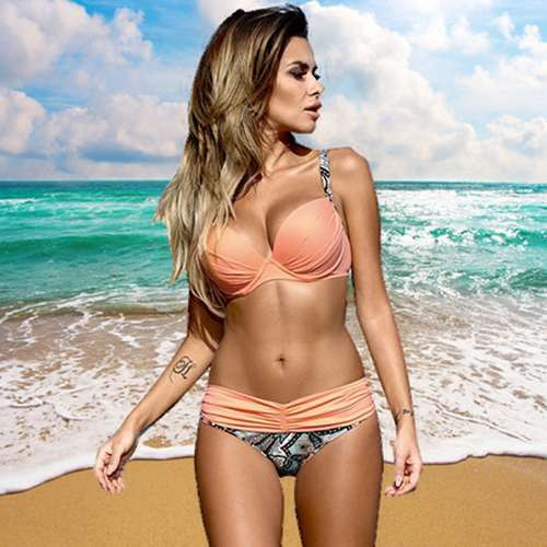 Bikinis Swimwear Women 2017 Sexy Swimsuit Brazilian Bikini Set Push Up Low-Waist Bathing Female Plus Size Swimwear Swimming Suit