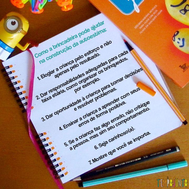 Dicas fundamentais para usar a brincadeira como instrumento para aumentar a autoestima das crianças.