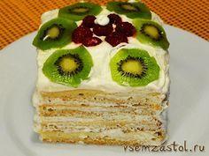 Торт «Нежность» с яблочным пюре
