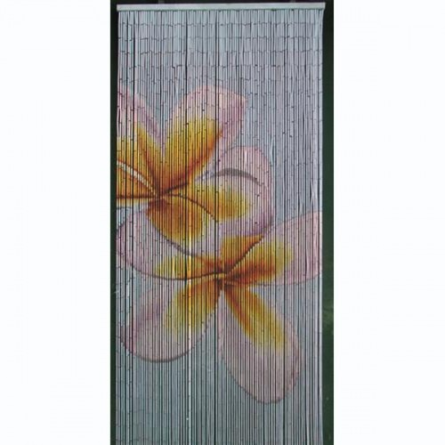 Double Frangipani Is A 90 X 200cm Beaded Door Curtain Featuring Two  Beautiful Yellow And Gold