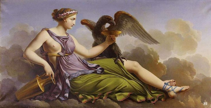 Hebe. 19th.century. Jacques Louis Dubois. French. 1768-1843. oil on canvas.