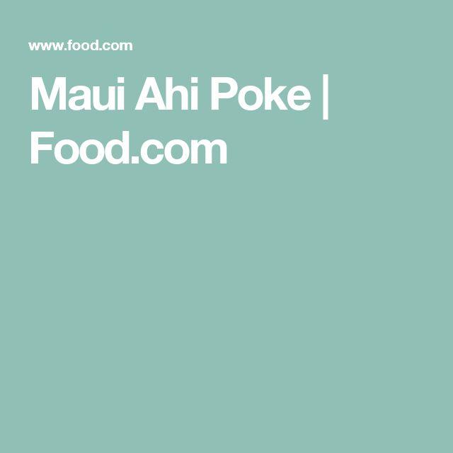 Maui Ahi Poke | Food.com