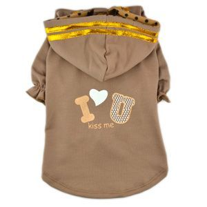 I love you hoodie | dog clothes | www.chifashion.nl