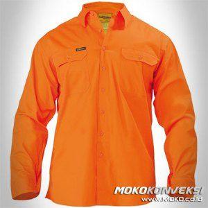 Model Baju Seragam Kerja Wearpack Pemadam Kebakaran Polos Warna Orange