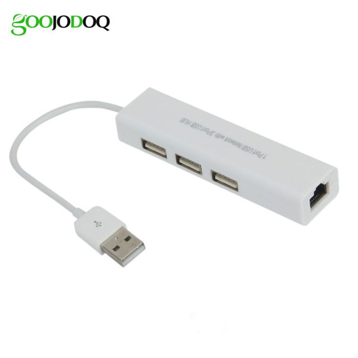 USB 2.0 Network Hub RJ45 Lan Network Card USB To Ethernet Adapter For Mac IOS Android PC Network Cards RTL8152 H14