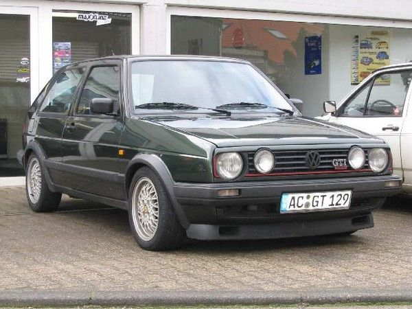 2nd car: 1988 VW Golf sort of like the one I bought in 1991 after selling Honda Accord (except it was dark blue). Our first child was born and we moved into our first house when we had this.  Kept it until 1995 when I bought new Ford Escort.