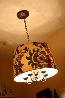 Want to makeover my ugly brass chandelier.   credit: Dwellings by Devore [ http://www.dwellingsbydevore.com/2010/07/chandelier-revamp.html]