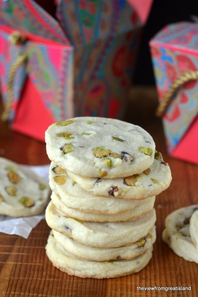 Pistachio Shortbread Cookies - The View from Great Island