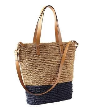 Gap Colorblock Straw Tote: This preppy raffia bag will be your summer love, than…