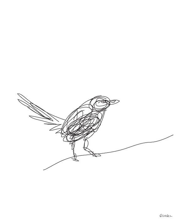 Line Art Of Birds : Birds line drawing