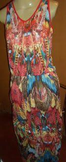 Brecho Online - Belas Roupas: Vestido Dona Criações