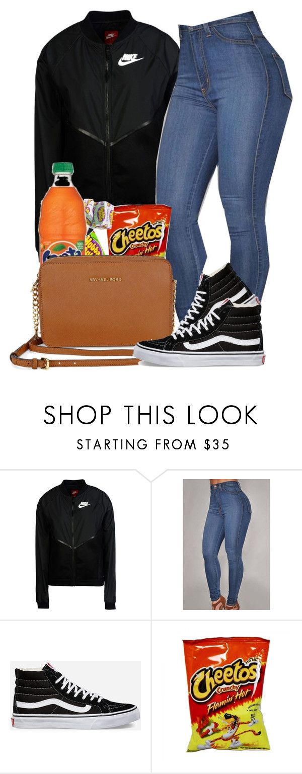 """""""6\21"""" by jhayceb on Polyvore featuring NIKE, Vans and Michael Kors"""