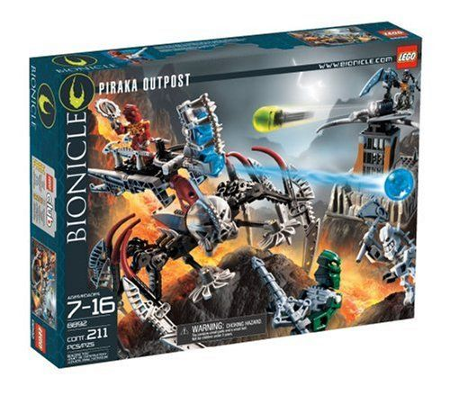 The evil Piraka are prepared to defend Voya Nui from their outposts around the island. But don't worry - Toa Inika Jaller and Toa Inika Kongu are on their way to take it back. They're riding atop a gi...