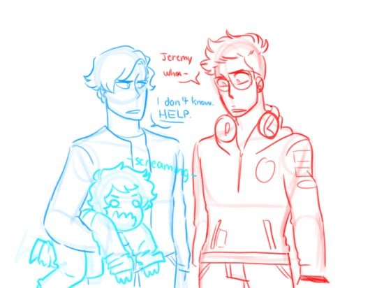 AU where the SQUIP is like a toddler and Jeremy and Micheal have to take care of it